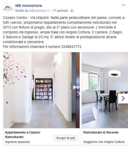 Facebook Immobiliare - Inserzione Carousel