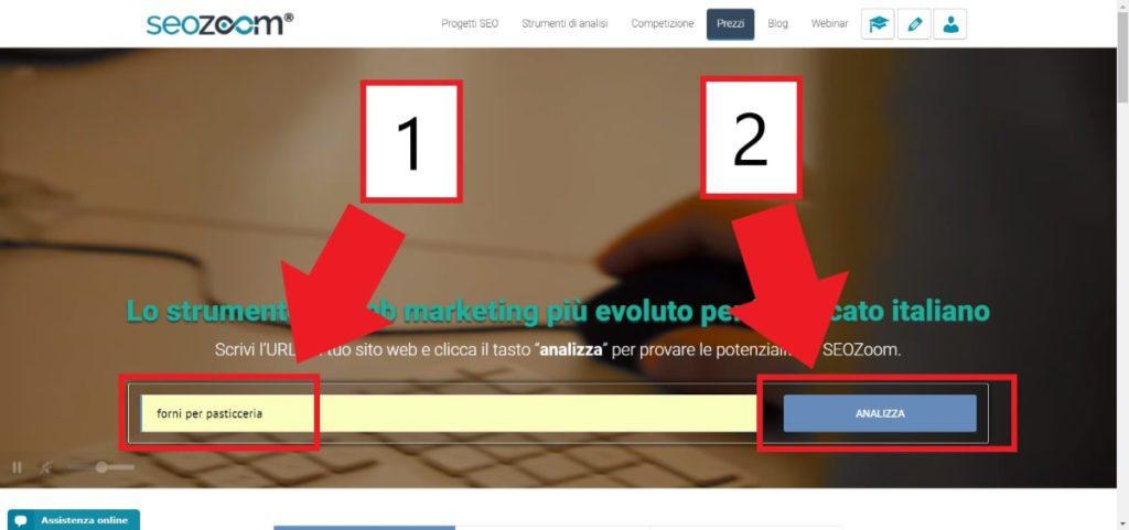 Homepage di seozoom