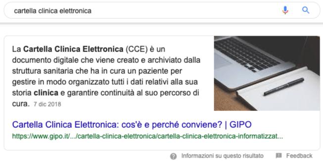 Esempio Primo Risultato Google